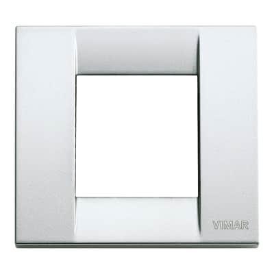 Placca VIMAR Arké Classic 2 moduli argento metallizzato