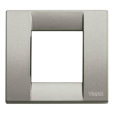 Placca VIMAR Arké Classic 2 moduli titanio metallizzato