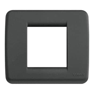 Placca VIMAR Idea 2 moduli nero satinato