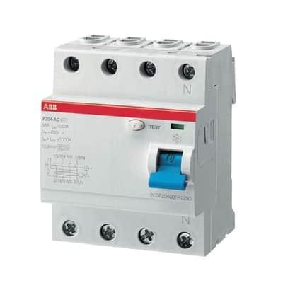 Interruttore differenziale puro ABB ELF204-63003A 4 poli 63A 30mA AC