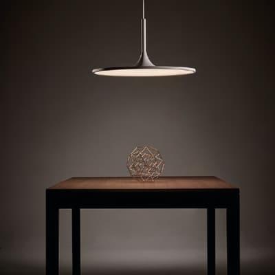 Lampadario Halo bianco, in acrilico, diam. 43.8 cm,  LED 1 luce