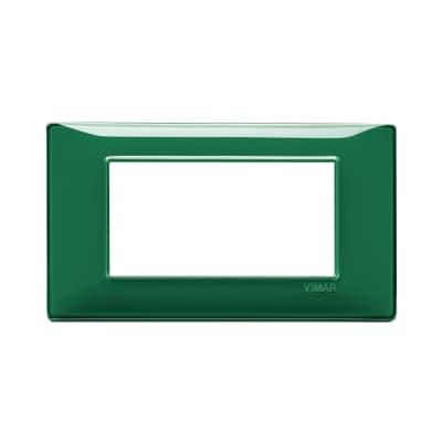 Placca VIMAR Plana 4 moduli reflex smeraldo