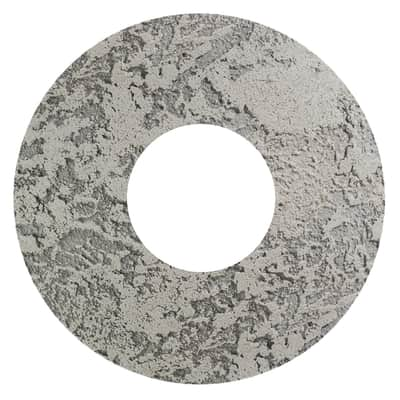 Plafoniera Hole grigio, in cemento, diam. 40, LED integrato 18W IP20 LUMICOM