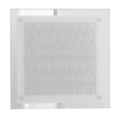 Plafoniera Joyce bianco, in vetro, 35x35 cm, LED integrato 18W IP20