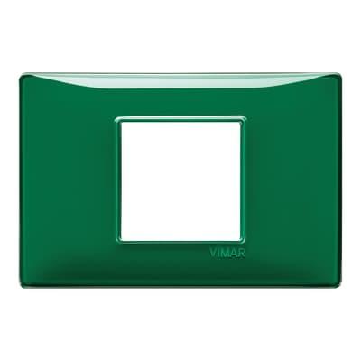 Placca VIMAR Plana 2 moduli reflex smeraldo
