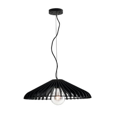 Lampadario Calder  nero, in legno, diam. 30 cm, E27 MAX42W IP20