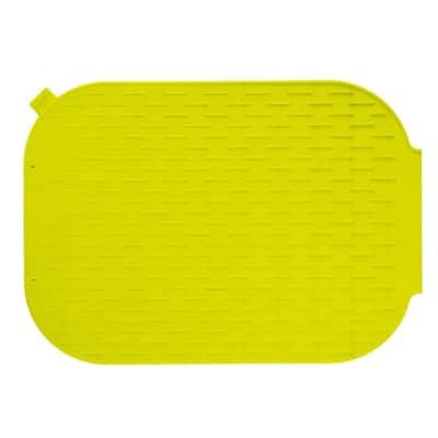 Tappeto per lavello silicone verde L 39 x H 27 cm