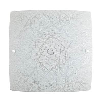 Plafoniera classico Xina LED integrato bianco, in vetro, 42x42 cm,