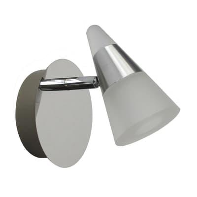 Faretto completo Eviz alluminio, cromo, in ferro, LED integrato 7W 500LM IP44 INSPIRE