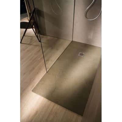 Piatto doccia ultrasottile resina Elements 80 x 140 cm sabbia