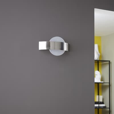 Applique moderno Symi LED integrato nichel, in metallo, 24.0x24.0 cm, 2 luci INSPIRE