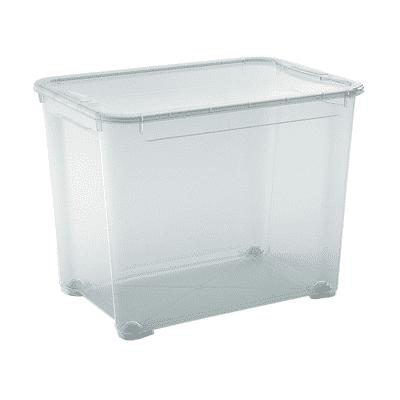Contenitore T-box L 55.5 x H 42.5 x P 39 cm trasparente