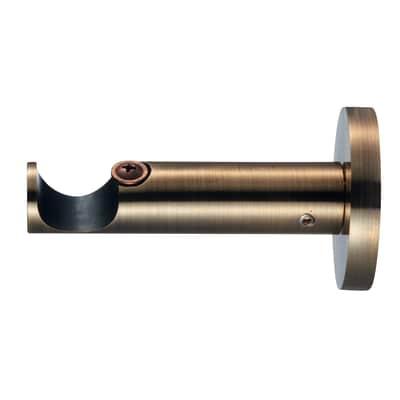 Supporto singolo aperto Ø20mm Bran in alluminio oro lucido7.5 cm, 2 pezzi