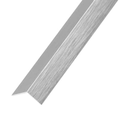 Profilo angolare simmetrico STANDERS in alluminio 2.6 m x 1.1 cm grigio