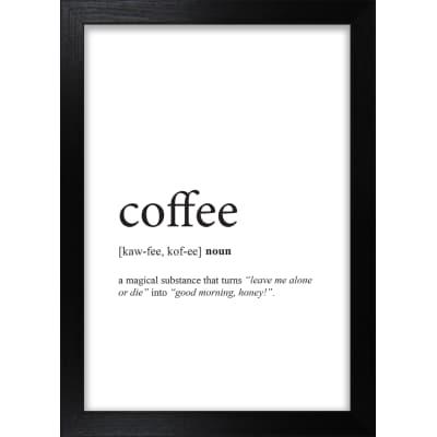 Stampa incorniciata Coffee 13x18 cm