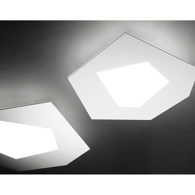 Applique Pablo bianco, in ceramica, 25 cm, LED integrato 4.3W SFORZIN