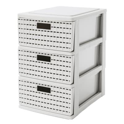Cassettiera Country L 26 x H 28 x P 18 cm bianco