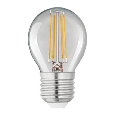 Lampadina LED filamento E27, Globo, Trasparente, Bianco, Luce calda, 4W=470LM (equiv 40 W), 360° , LEXMAN