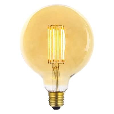 Lampadina decorativa LED, Glo, E27, Globo, Ambra, Luce calda, 6W=600LM (equiv 50 W), 360°