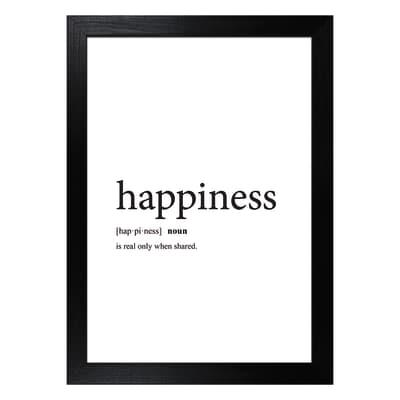 Stampa incorniciata Happiness 13x18 cm