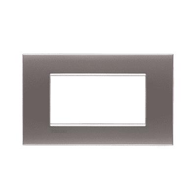 Placca BTICINO Living Light Air 4 moduli nichel satinato
