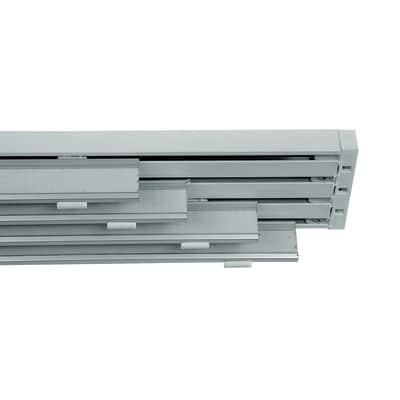 Binario per pannello giapponese singolo 4 vie Cruiser alluminio 225 cm bianco