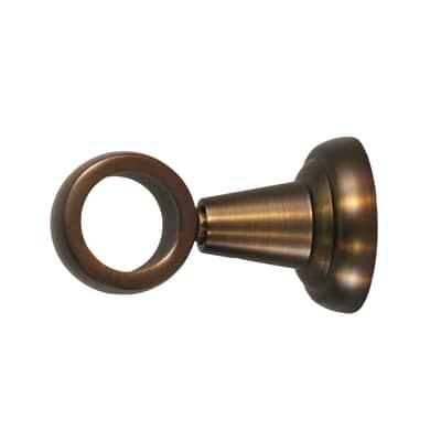 Supporto singolo chiuso Ø25mm Tago in metallo bronzo