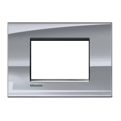 Placca BTICINO Living light 3 moduli nichel