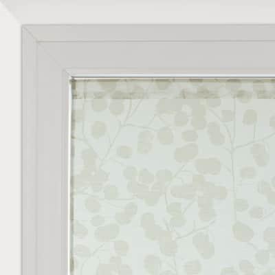Tendina vetro Empreinte grigio passanti nascosti 60 x 120 cm