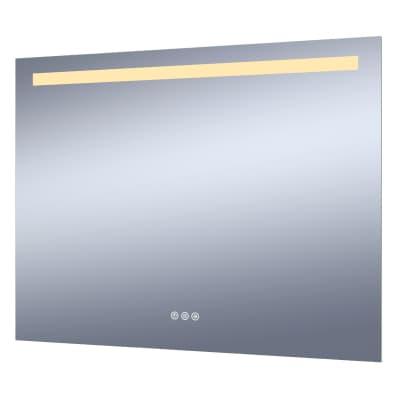 Specchio con illuminazione integrata bagno rettangolare Remix L 90 x H 70 cm SENSEA
