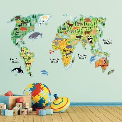 Sticker World map 47.5x70 cm