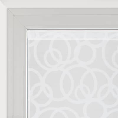 Tendina vetro Roundy bianco tunnel 60x160 cm