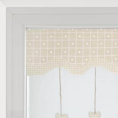Tendina vetro Serena ecru tunnel 60 x 230 cm