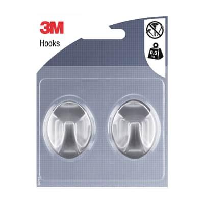 Gancio 3M IHAP10 in plastica argento