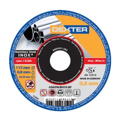 Disco in acciaio DEXTER as60winox per inossidabile Ø 115 mm