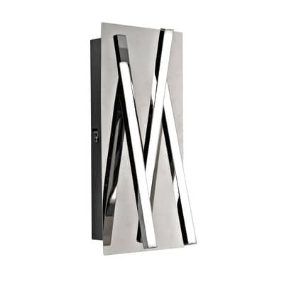 Applique moderno Otok LED integrato cromo, in metallo, 25.5 cm, 3 luci INSPIRE