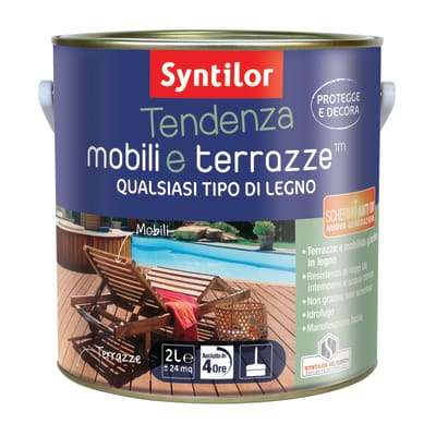 Vernice per legno da esterno liquido SYNTILOR Tendenza 2 L cioccolato