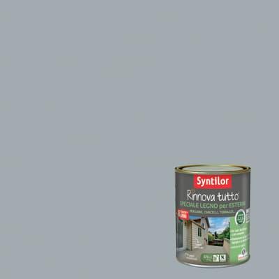 Vernice e smalto da esterno per legno base acqua SYNTILOR Rinnova Tutto grigio 2.5 L