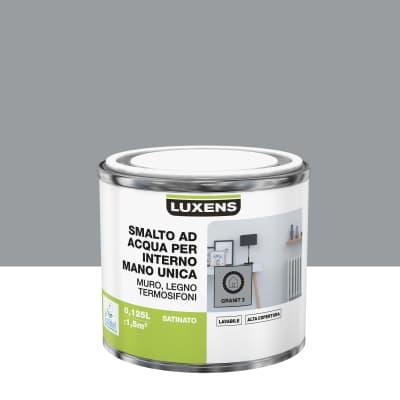 Smalto LUXENS base acqua grigio granito 3 satinato 0,125 L