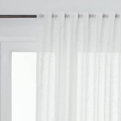 Tenda Manuela bianco passanti nascosti 150 x 300 cm