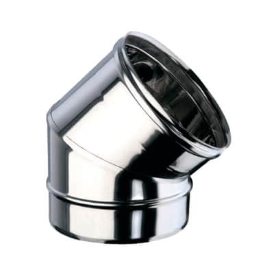 Curva 45° Curva inox aisi 316L a 45° Dn 200 mm in inox 316l (elevata resistenza in condizioni climatiche estreme)