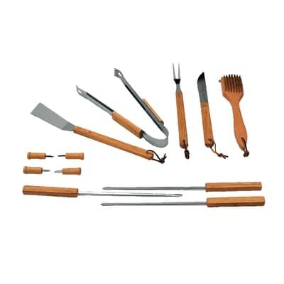 Kit utensili per BBQ in alluminio