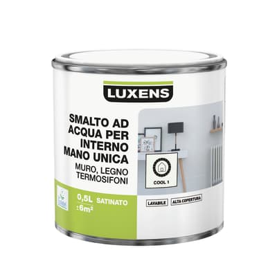 Vernice di finitura LUXENS Manounica base acqua bianco cool 1 satinato 0.5 L
