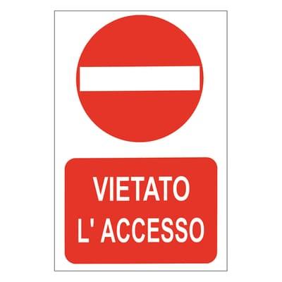 Cartello segnaletico Divieto accesso vinile 20 x 30 cm