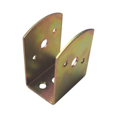 Supporto per palo Staffa in acciaio L 4.5x H 9