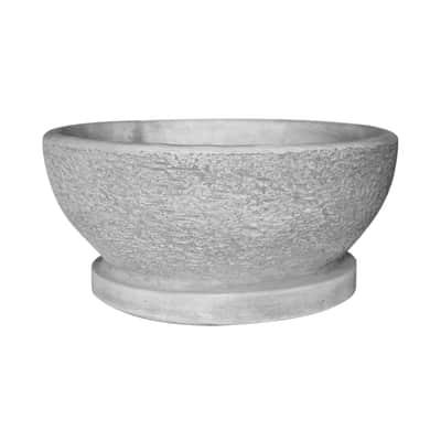 Ciotola in calcestruzzo colore grigio H 18 cm, Ø 37 cm