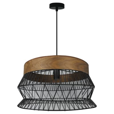 Lampadario Manam marrone, nero, in metallo, diam. 46.0 cm, E27 MAX60W IP20 INSPIRE