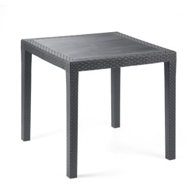 Tavolo da pranzo per giardino quadrato King con piano in resina L 80 x P 80 cm