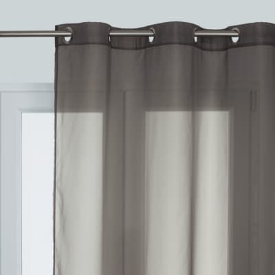 Tenda Essential grigio occhielli 140x280 cm