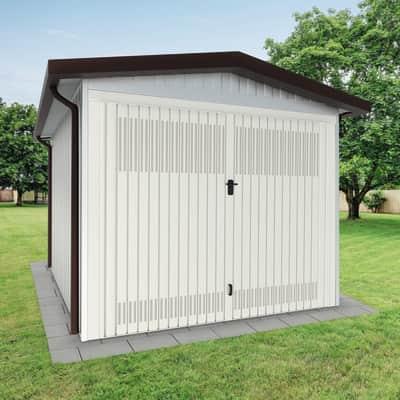 Garage in acciaio al carbonio Chicago 12.3 m², Sp 40 mm